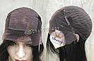 💎Парик натуральный, чёрные ровные волосы💎 (имитация кожи головы), фото 6