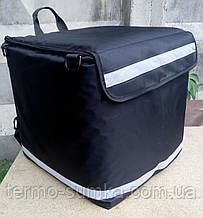 Каркасная термосумка - рюкзак для курьерской доставки еды и пиццы. Малая 34*34