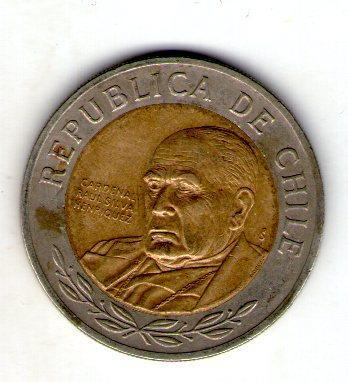 Чили 500 песо 2008 №58