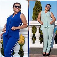 Яркий костюм летний с брюками, с 48-54 размер, фото 1