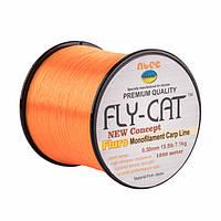 Леска NTEC Fly Cat Fluro Orange 1250м, Ø0.30мм, 15.5lb/7.1кг