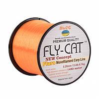 Леска NTEC Fly Cat Fluro Orange 1480м, Ø0.28мм, 13.4lb/6.1кг