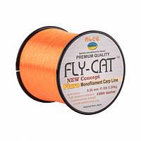 Леска NTEC Fly Cat Fluro Orange 1680м, Ø0.26мм, 11.5lb/5.3кг