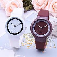 Женские стильные часы  силиконовый ремешок (Белые)