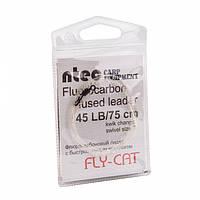 Лидкор флюрокарбоновый Ntec FlyCat 45Lb, 0.75м, Clear