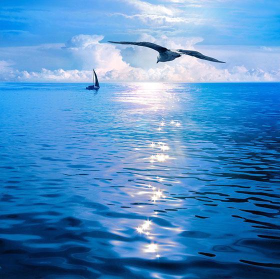 """Натяжные потолки с фотопечатью """"Море, пляж"""""""