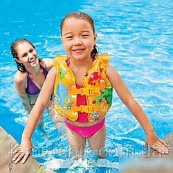 Надувний дитячий жилет Intex 50 х 47 см