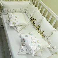АКЦИЯ: Защитные бортики из сатина для детской кроватки -15