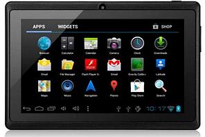 Планшет Unis Com Q88 Экран 7 дюймов 512MB+4GB Черный