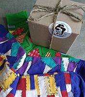 Носки мужские цветные HIPSTORY BOX, набор из трёх пар разных цветов,  р.40-43