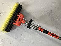 """Швабра губка с двойным отжимом и телескопической ручкой оранжевая """"КИТ"""""""