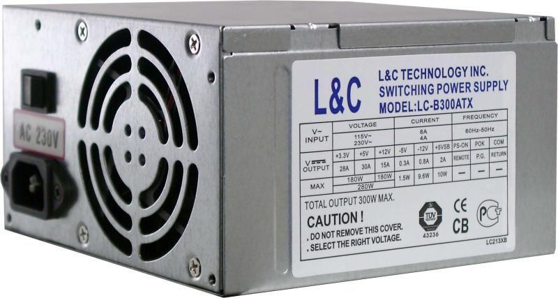"""Блок питания LC- b300atx 300W """"Over-Stock"""" Б/У"""