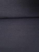 Льняная мебельная ткань черного цвета (шир. 150 см), фото 1