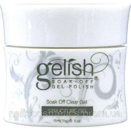 01247 GELISH STRUCTURE / SOAK OFF CLEAR GEL 15ml- прозрачный укрепляющий гель