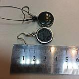 Красивые нефритовые серьги, серьги с нефритом. Нежные серьги нефрит в серебре Индия, фото 7