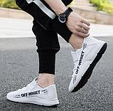Кроссовки белые в стиле Off-White, фото 2