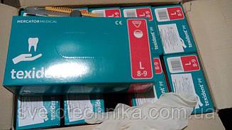Перчатки  латексные одноразовые texident (10 упаковок в ящике)