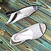 Женские босоножки на низком ходу, натуральная кожа сатин, фото 4