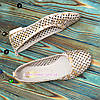 Балетки кожаные женские на маленьком каблуке, фото 3