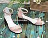 Босоножки женские замшевые на невысоком устойчивом каблуке, цвет розовый, фото 2