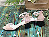 Босоножки женские замшевые на невысоком устойчивом каблуке, цвет розовый, фото 3