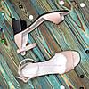 Босоножки женские замшевые на невысоком устойчивом каблуке, цвет розовый, фото 4