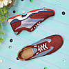 Кроссовки женские комбинированные на шнуровке, цвет бордо/синий, фото 3
