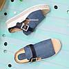 Женские комбинированные шлепанцы на невысокой платформе, фото 3