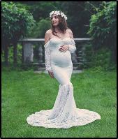 Платье-пеньюар из кружева для фотосессии, на романтический вечер белый код 300, фото 1