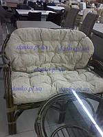 Плетеное кресло-софа 0125 С из натурального ротанга King of Rotang