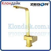 Смеситель для кухни Zegor LEB4-A-G WKB123 (Золото)