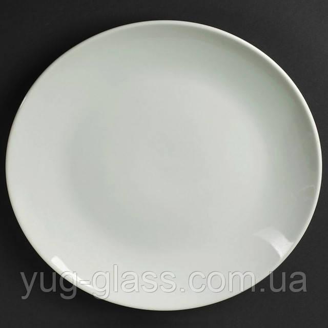 Блюдо 30 см біле плоске