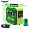 Лазерный уровень Huepar 602CG 8 линий 2D с зелёными лучами