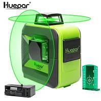 Лазерный уровень Huepar 602CG 8 линий 2D с зелёными лучами, фото 1