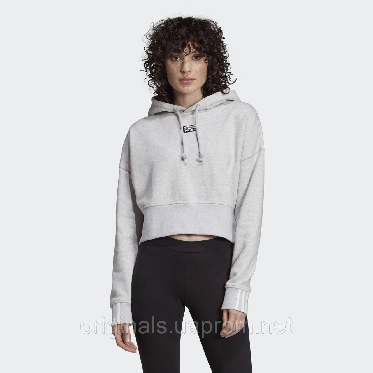 Укороченное худи женское Adidas Cropped Hoodie EJ8538