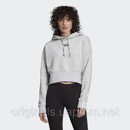 Укороченное худи женское Adidas Cropped Hoodie EJ8538  , фото 2