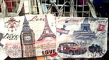 Женские летние пляжные сумки на плечо 37*31 см (Париж)