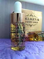 Сыворотка на основе коллагена и золота 3w clinic collagen & luxury gold anti-wrinkle ampoule 13ml, фото 1