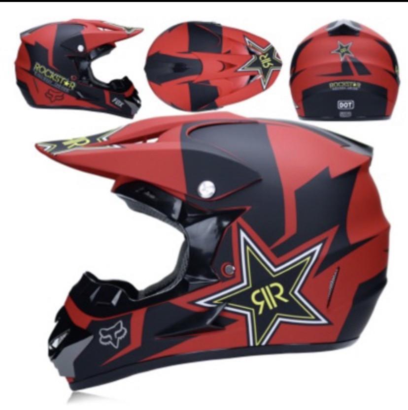 Черно-красный  Матовый мотошлем мото кроссовый шлем  фулфейс Fox  (эндуро, даунхил)