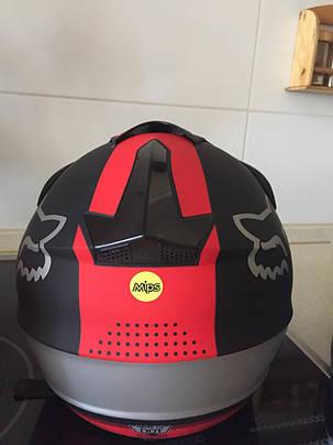 Черно-красный  Матовый мотошлем мото кроссовый шлем  фулфейс Fox  (эндуро, даунхил), фото 2