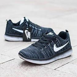 Кроссовки Nike Free Run 5.0 Flyknit Black Черные мужские