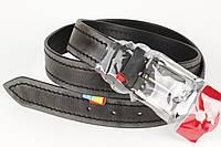 Ремень кожаный брючный King Belts 40 мм с декоративной строчкой