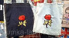 Женские летние пляжные сумки на плечо Big Dream 35*40 см (роза)
