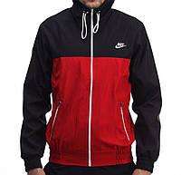 Ветровка Nike 19861 черно-красная