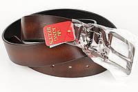 Ремень кожаный джинсовый King Belts 45 мм гладкий