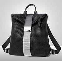 Рюкзак женский городской Roll-top с камнями