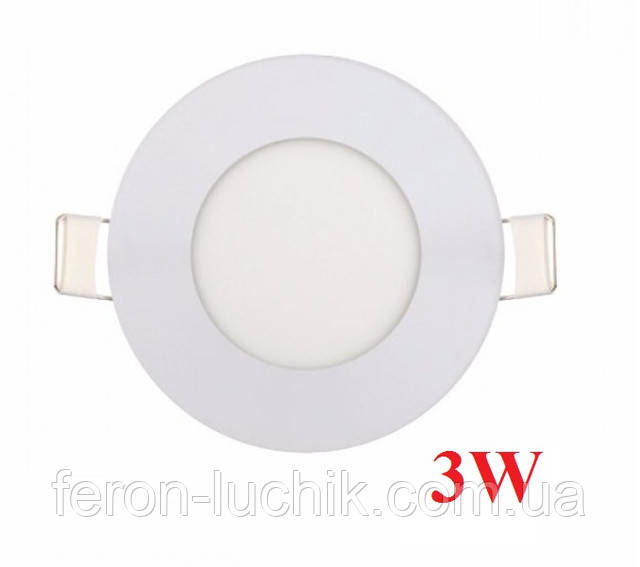 Світильник врізний 3W 4200K-6400K LED панель
