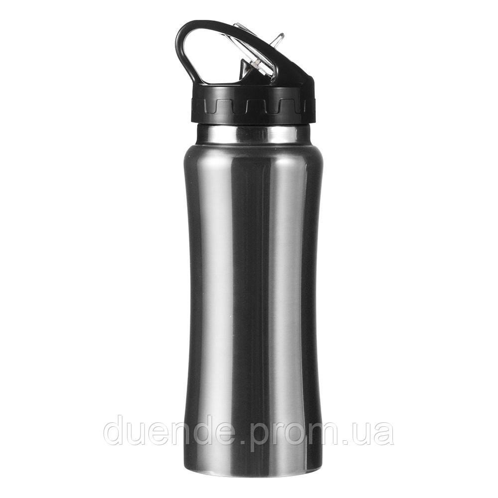 Бутылка для воды спортивная 600 мл, Серебряный - su 95523332