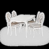 Комплект стол и стулья Арт-нико Элегант белый