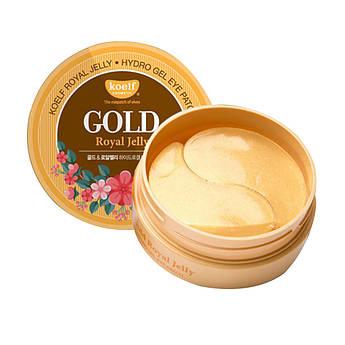 Гідрогелеві патчі з частинками золота і маточним молочком Koelf Hydrogel Eye Patch Gold & Royal Jelly